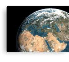 Global view of earth over Europe, Middle East, and northern Africa. Canvas Print
