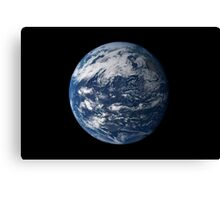 Full Earth centered over the Pacific Ocean. Canvas Print