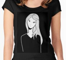 women ekspression Women's Fitted Scoop T-Shirt