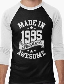 Made in 1995 , 21 Years of Being Awesome T Shirt & Hoodies - 2016 Birthday Men's Baseball ¾ T-Shirt