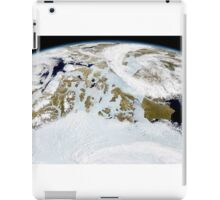 Partial view of Earth showing northern Canada and northern Greenland.  iPad Case/Skin
