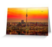 Berlin at sunset Greeting Card