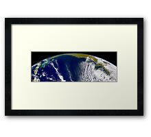 Oblique Bermuda's-eye-view of the United States east coast.  Framed Print