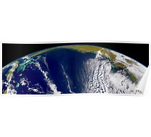 Oblique Bermuda's-eye-view of the United States east coast.  Poster