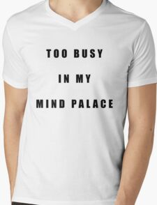 Sherlock Too busy in my mind palace Mens V-Neck T-Shirt