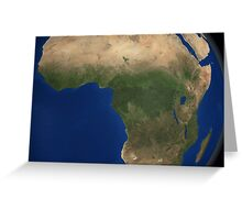 Earth showing landcover over Africa. Greeting Card