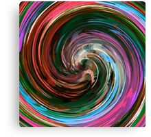 Modern Colorful Swirl Abstract Art #3 Canvas Print