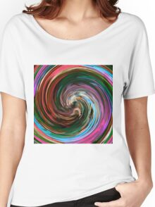 Modern Colorful Swirl Abstract Art #3 Women's Relaxed Fit T-Shirt