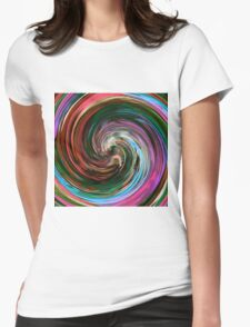 Modern Colorful Swirl Abstract Art #3 Womens Fitted T-Shirt