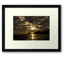 The golden hour by Jean Lelliott Framed Print