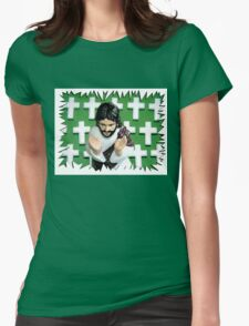 Fun Jesus - Green Womens Fitted T-Shirt