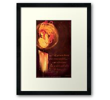 Flame girl Framed Print