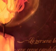 Flame girl Sticker