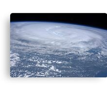 View from space of Hurricane Irene off the east coast of the United States. Canvas Print