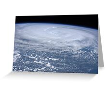 View from space of Hurricane Irene off the east coast of the United States. Greeting Card