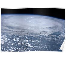 View from space of Hurricane Irene off the east coast of the United States. Poster