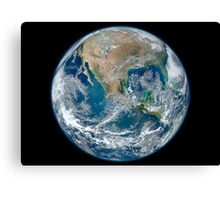 Full Earth showing North America and Mexico. Canvas Print