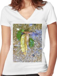 Back to Nature - Clohesy River #3 Women's Fitted V-Neck T-Shirt