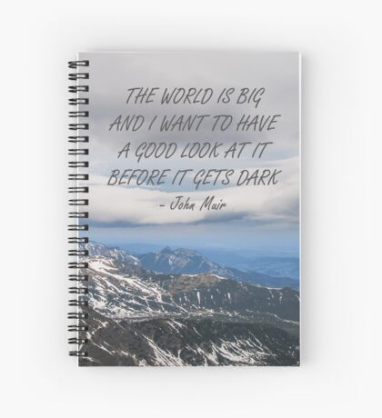 The world is big Spiral Notebook