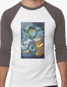 Mother Earth and Father Time Men's Baseball ¾ T-Shirt