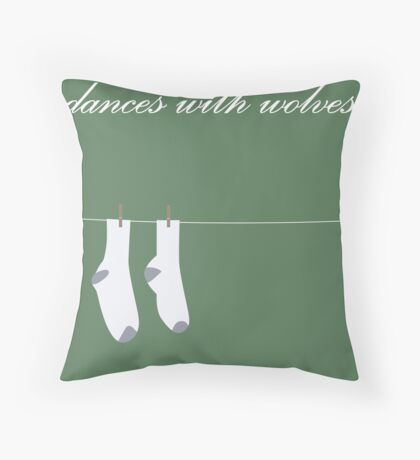 Dances with wolves Throw Pillow