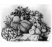 A Boquet of fruit - Currier & Ives - 1875 Poster