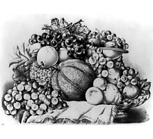 A Boquet of fruit - Currier & Ives - 1875 Photographic Print
