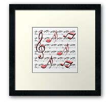 All About the Music Framed Print