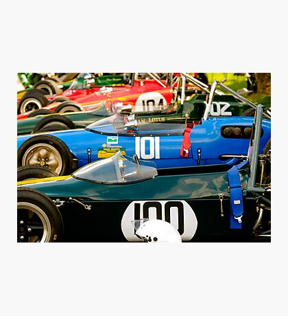 Sportscars Lotus - Sports Racing and Racing Cars Photographic Print