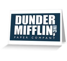 Dunder Miffllin - Blue Greeting Card