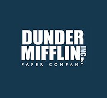 Dunder Miffllin - Blue by emilysmithart