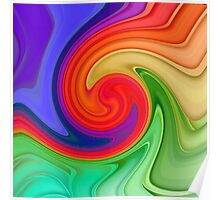 Raspberry Ripple Colourful Background Pattern Poster