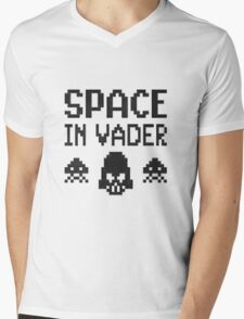 Space in-vader Mens V-Neck T-Shirt