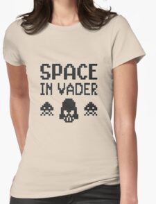Space in-vader Womens Fitted T-Shirt