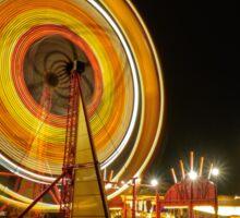 Amusement ride long exposure Sticker