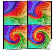 The Fourth Dimension Colourful Background Pattern Poster