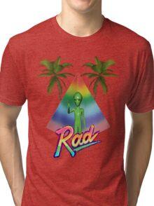 Vaporwave Alien Tri-blend T-Shirt
