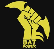 BATMAN POWER - BLACK POWER - BAT POWER Baby Tee