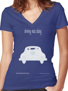 Driving miss Daisy Women's Fitted V-Neck T-Shirt