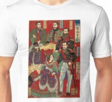 Chikanobu Hashimoto - Portrait of World Soveriegns 2 - 1879 - Woodcut Unisex T-Shirt
