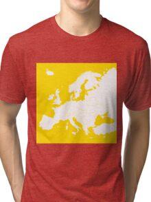 Europe yellow map Tri-blend T-Shirt