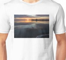 Icy Sunrise - Winter Waterfront Tranquility Unisex T-Shirt