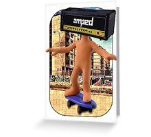 Amped Skater Greeting Card