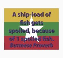 A Shipload Of Fish - Burmese Proverb Kids Tee