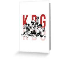 K.B.G Team - Hajime No Ippo Greeting Card