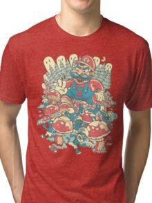 Mario Bros vs. Smurfs Tri-blend T-Shirt