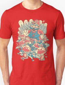 Mario Bros vs. Smurfs T-Shirt