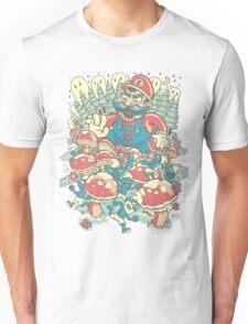 Mario Bros vs. Smurfs Unisex T-Shirt