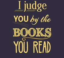 I judge you by the books you read Womens Fitted T-Shirt