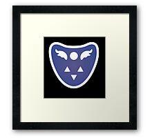 Undertale Delta Rune Toriel's symbole Framed Print